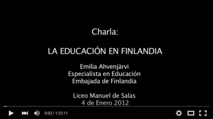 CharlaSobreEducaciónFinlandiaChile2012-Video-BlogGesvin