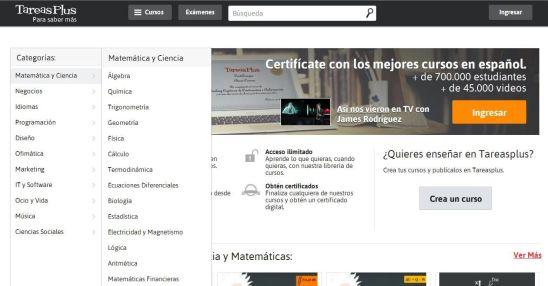 TareasPlusAprendeMatemáticasFísicaQuímicaVideos-Aplicación-BlogGesvin