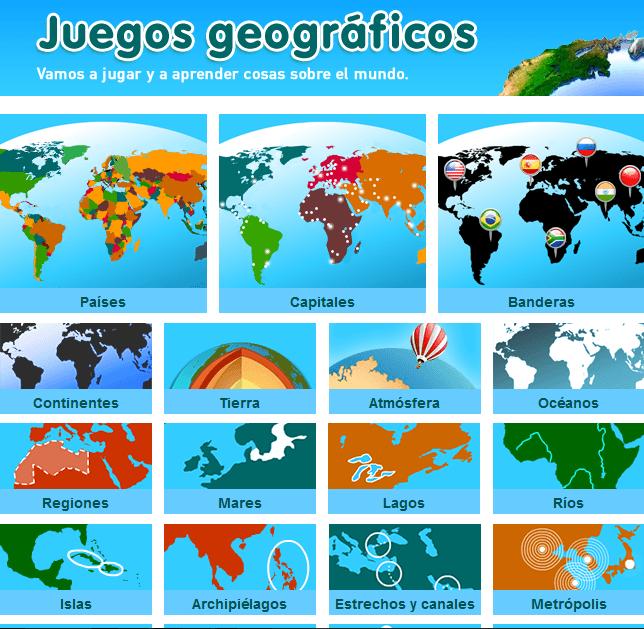 Juegos para aprender geografa  Blog de Gesvin