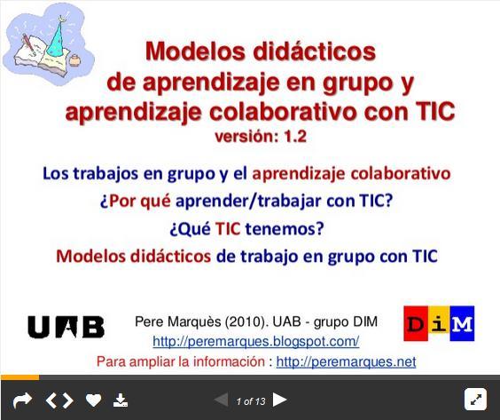 AprendizajeGrupalColaborativoTICModelosDidácticos-Presentación-BlogGesvin
