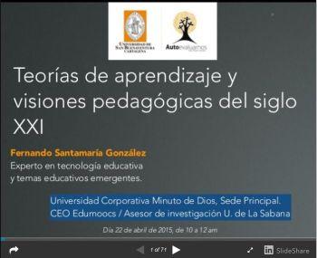 Teorías de Aprendizaje y Visiones Pedagógicas del Siglo XXI | Presentación