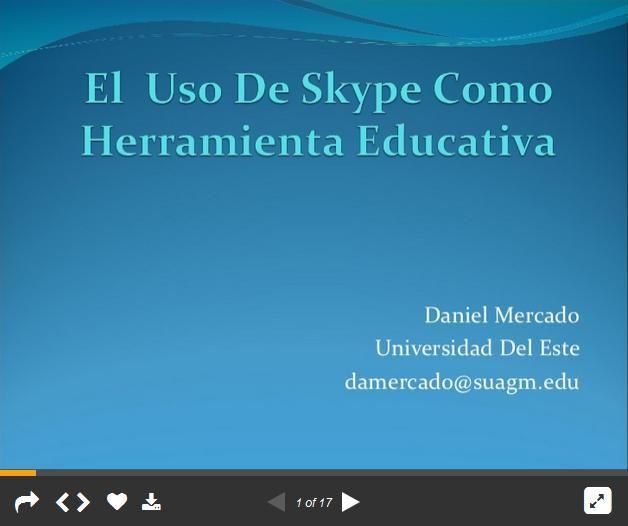 SkypeVideoConferenciaComoHerramientaEducativa-Presentación-BlogGesvin