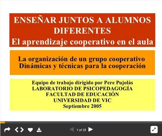 AprendizajeCooperativoEnseñandoJuntosAlumnosDiferentes-Presentación-BlogGesvin