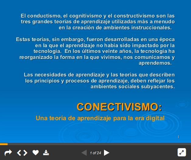 ConectivismoAprendizajeEraDigitalMarcoReferencia-Presentación-BlogGesvin