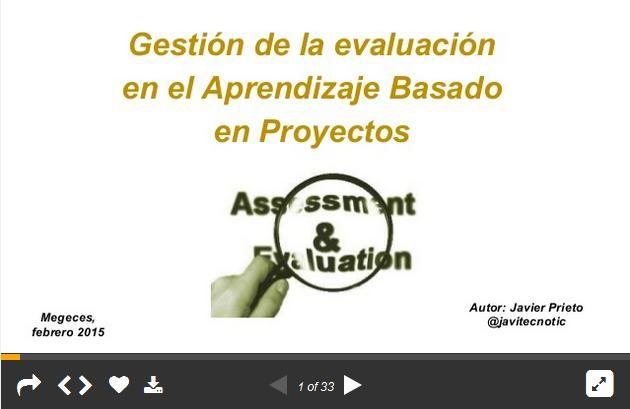 EvaluaciónAutoevaluaciónCoevaluaciónAprendizajeProyectos-Presentación-BlogGesvin