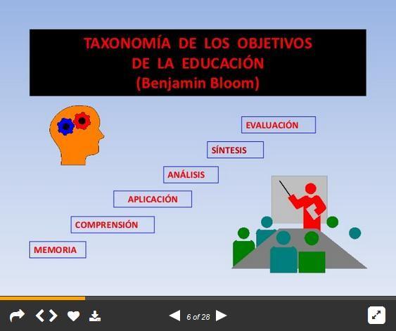 TaxonomíaBloomComoPlanificarObjetivosAprendizaje-Presentación-BlogGesvin