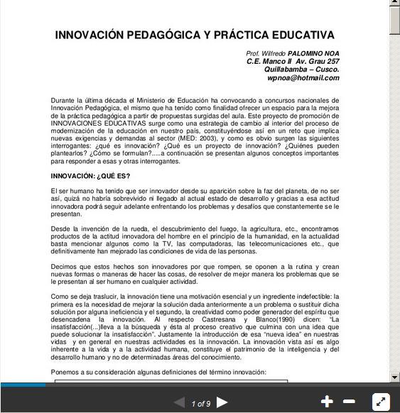 InnovaciónPedagógicaPrácticaEducativa-Presentación-BlogGesvin