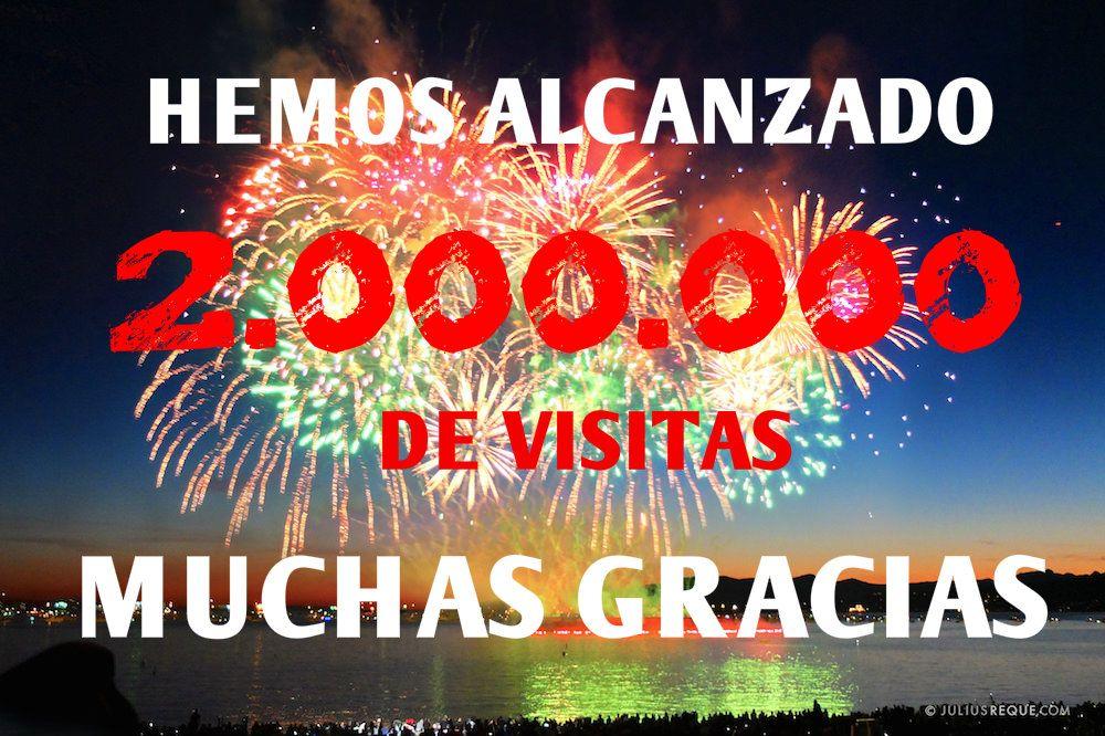 Resultado de imagen de MÁS DE 2.000.000 DE VISITAS