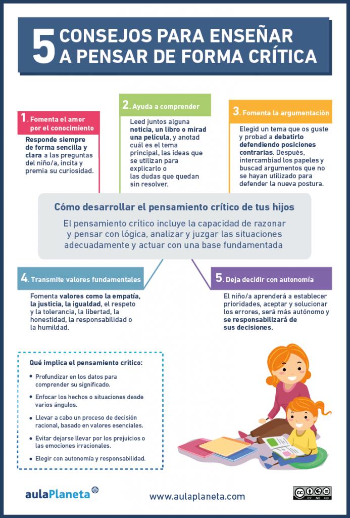PensamientoCrítico5RecomendacionesFomentarloAlumnos-Infografía-BlogGesvin