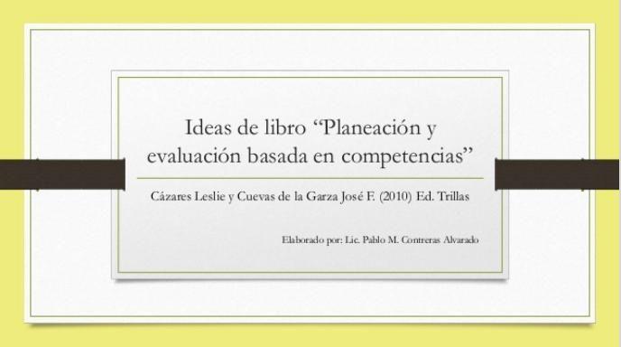 PlaneaciónEvaluaciónBasadaCompetencias-Presentación-BlogGesvin