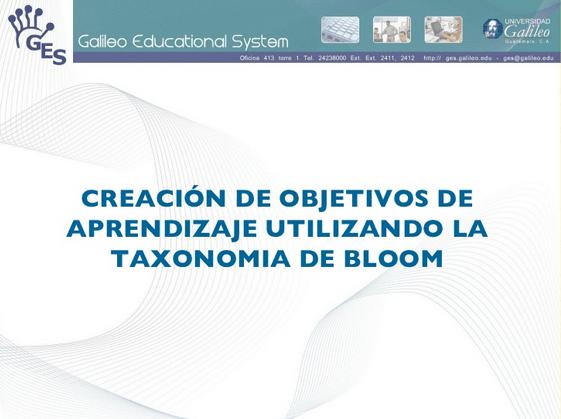 comoredactarobjetivosaprendizajeaplicandotaxonomiabloom-presentacion-bloggesvin