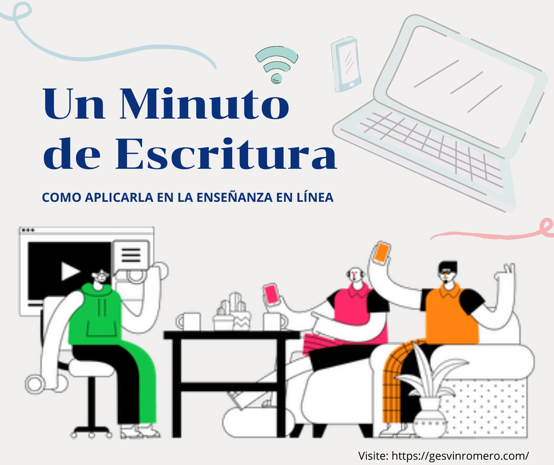 Tutorial Un Minuto de Escritura – Cómo Aplicarla en la Enseñanza en Línea.